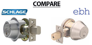 Compare Schlage and EBH Door Closers